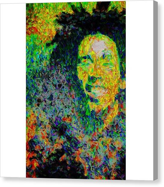 Famous Artists Canvas Print - #marley #bobmarley #damienmarley by David Haskett