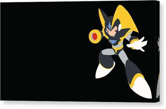 Mega Man Canvas Print - Mega Man by Barbara Elvins