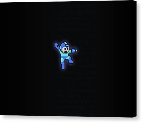 Mega Man Canvas Print - Mega Man by Dorothy Binder