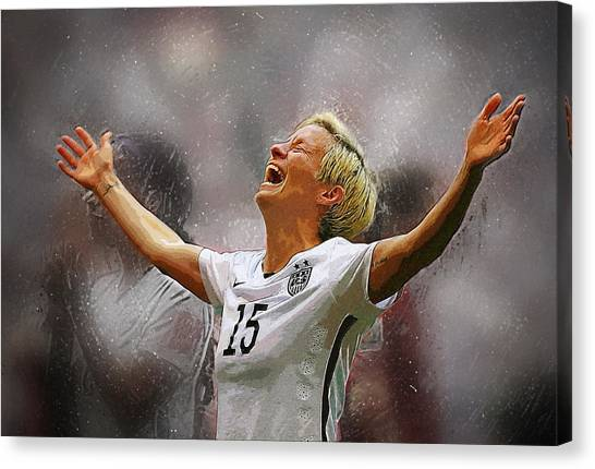 Mls Canvas Print - Megan Rapinoe by Semih Yurdabak