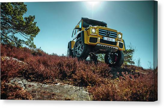 4x4 Canvas Print - Mercedes-benz G500 4x4 Squared by Gijs Spierings