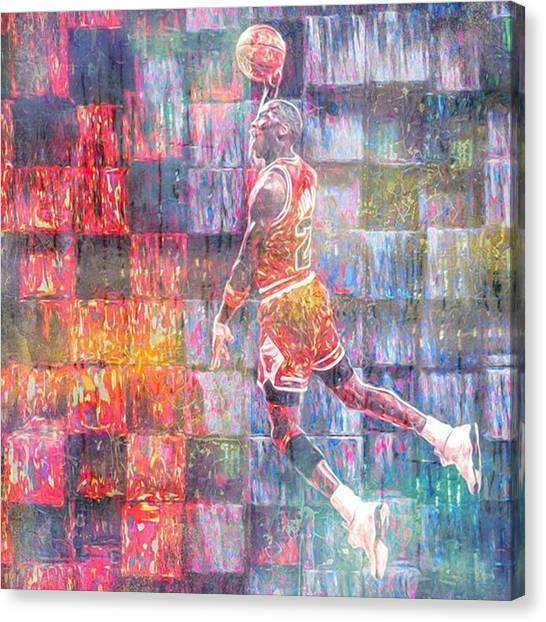 Bull Canvas Print - Michael Jordan. Air Jordan. The by David Haskett