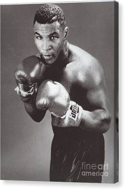 Mike Tyson Canvas Print - Mike Tyson 3 by Dennis ONeil