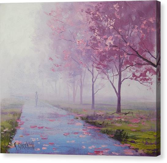 Foggy Forests Canvas Print - Misty Pink by Graham Gercken