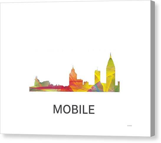 Mobile Alabama Skyline Canvas Print