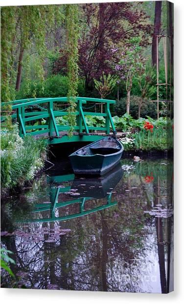 Monet Canvas Print by Nancy Bradley
