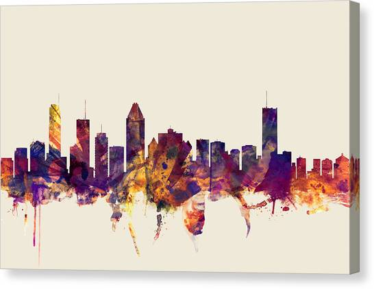 Canadian Canvas Print - Montreal Canada Skyline by Michael Tompsett