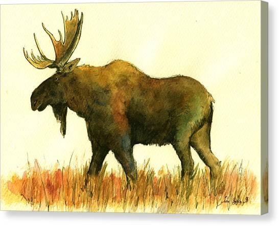 Moose Canvas Prints | Fine Art America