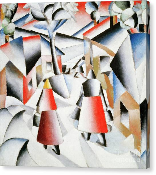 Rayonism Canvas Print - Morning In The Village After Snowstorm by Kazimir Malevich