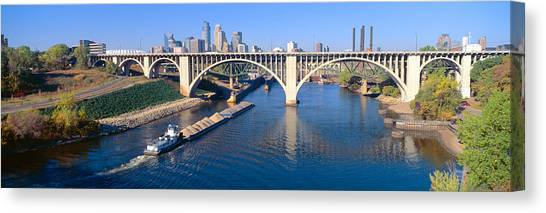 Boat Basin Canvas Print - Morning, Minneapolis, Minnesota by Panoramic Images