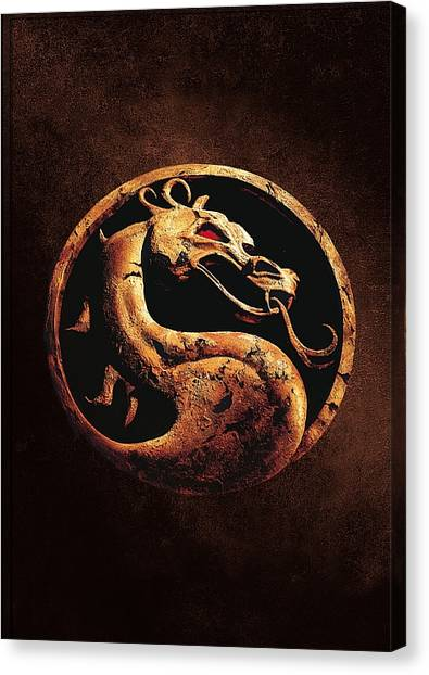 Arcade Games Canvas Print - Mortal Kombat 1995  by Geek N Rock