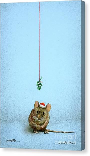 Mistletoe Canvas Print - Mousletoe... by Will Bullas