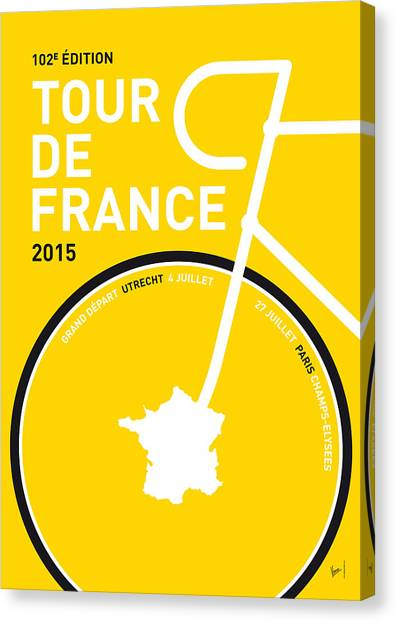 Paris Canvas Print - My Tour De France Minimal Poster by Chungkong Art