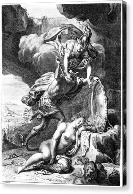 Gorgons Canvas Print - Mythology: Perseus by Granger