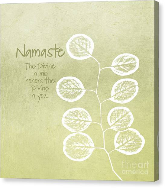 Organic Canvas Print - Namaste by Linda Woods