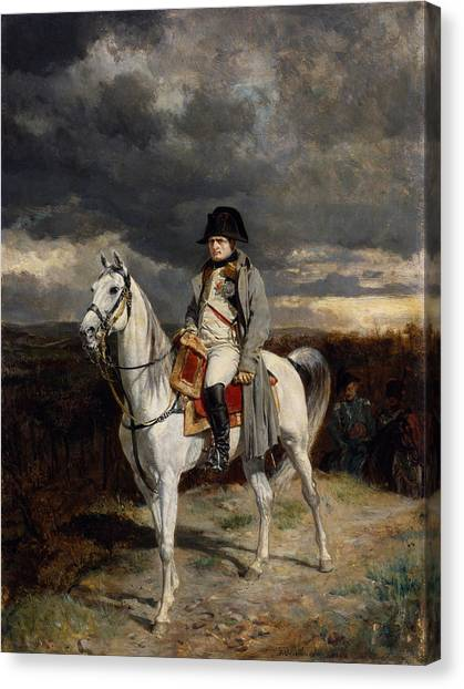 War Horse Canvas Print - Napoleon Bonaparte On Horseback by War Is Hell Store