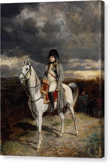 War Horse Canvas Print - Napoleon Bonaparte On Horseback by War Is Hell Store