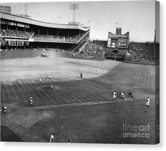 Polo Canvas Print - New York: Polo Grounds by Granger