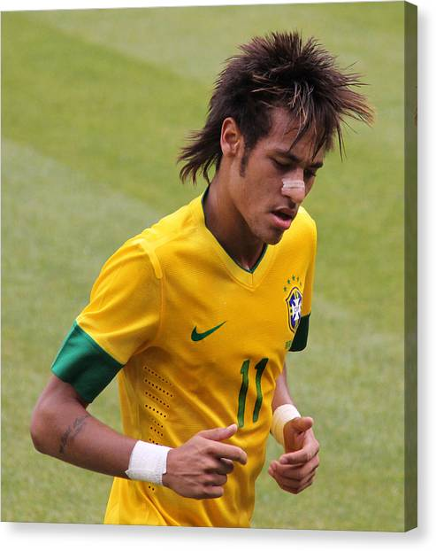 Lionel Messi Canvas Print - Neymar Junior by Lee Dos Santos