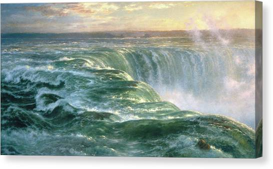 Horseshoe Falls Canvas Print - Niagara by Louis Remy Mignot