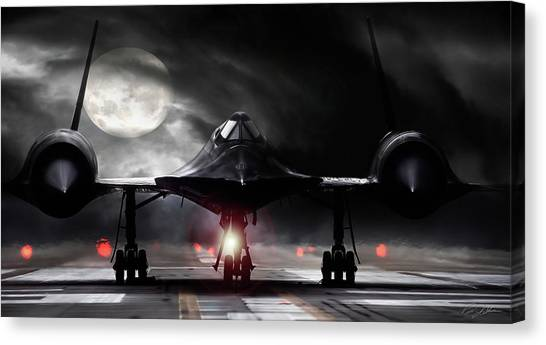 Blackbirds Canvas Print - Night Moves by Peter Chilelli