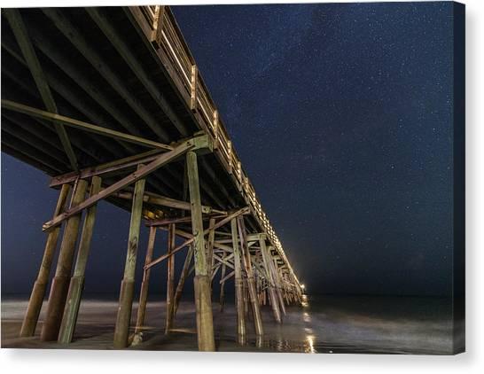 Flagler Beach Canvas Print - Night Pier by Kristopher Schoenleber