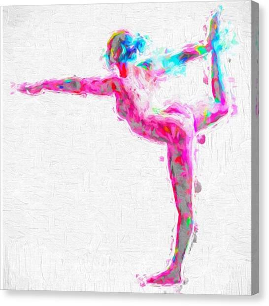 Women Canvas Print - @nude_yogagirl #nudeyogagirl by David Haskett II