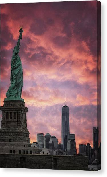 Immigration Canvas Print - NYC by Martin Newman