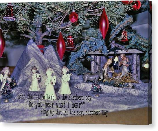 O Holy Night Quote Canvas Print by JAMART Photography