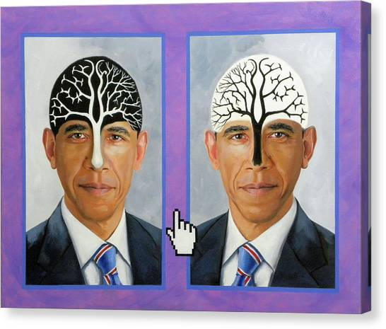 Obama Trees Of Knowledge Canvas Print