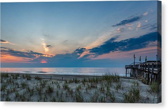 City Sunrises Canvas Print - Ocean City Maryland by Jim Archer