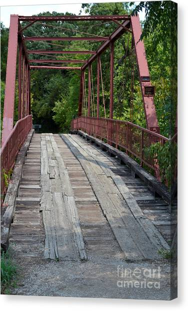 Not In Use Canvas Print - Old Alton Bridge  by Ruth  Housley