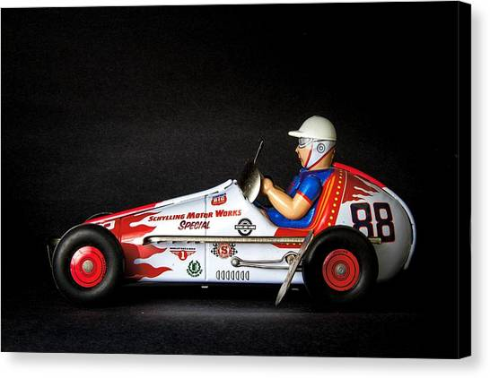 Racecar Drivers Canvas Print - Old Race Car by Rudy Umans