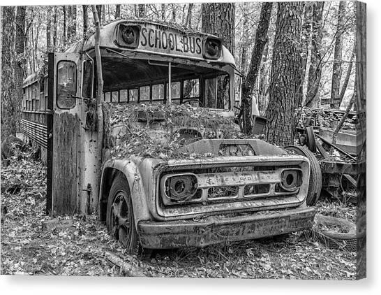 Old School Bus Canvas Print