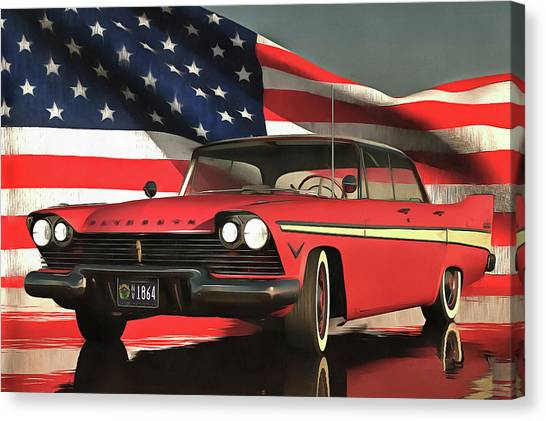 Oldtimers Canvas Print - Old-timer Plymouth by Jan Keteleer