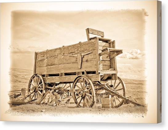 Canvas Print - Old West Wagon  by Steve McKinzie