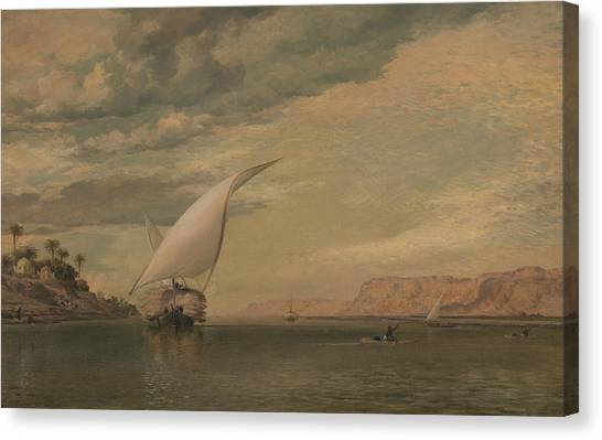 The Nile Canvas Print - On The Nile by Edward William Cooke