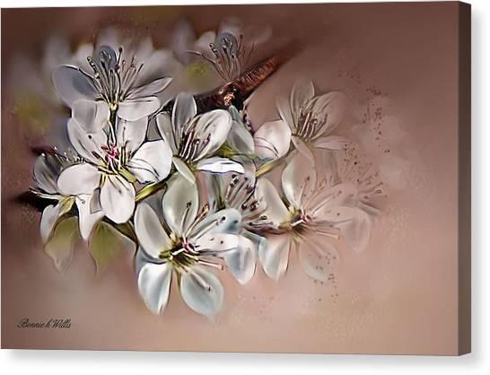 Oriental Pear Blossom Canvas Print