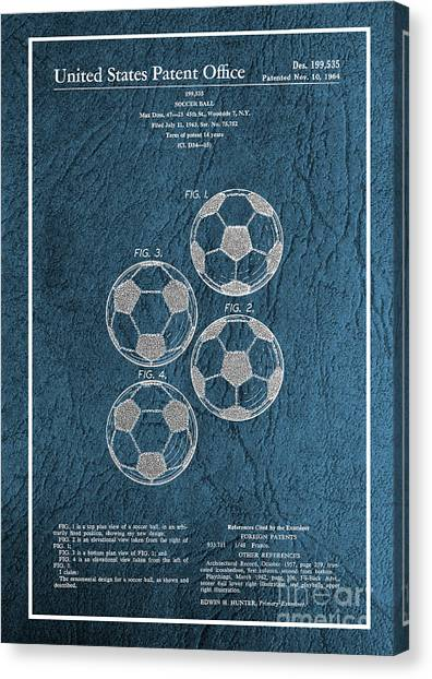 David Beckham Canvas Print - Original 1964 Vintage Soccer Ball Patent  by Doc Braham