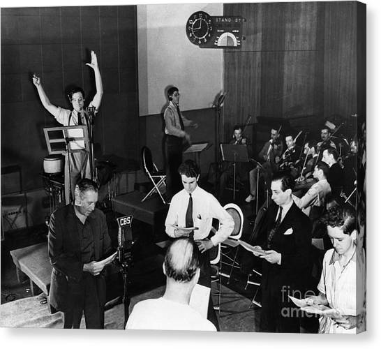 Music Stand Canvas Print - Orson Welles (1915-1985) by Granger