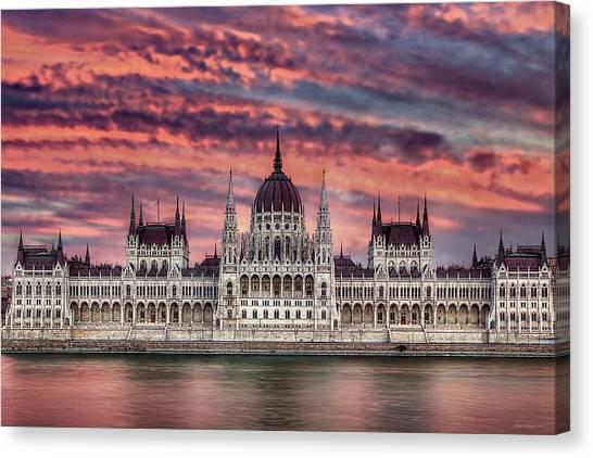 Pink Parliament Canvas Print