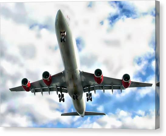 Passenger Plane Canvas Print