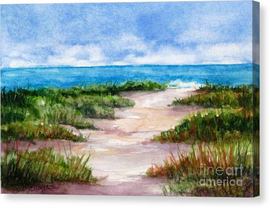 Path To The Beach Canvas Print by Suzanne Krueger