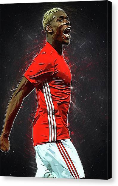 Paul Pogba Canvas Print - Paul Pogba by Semih Yurdabak