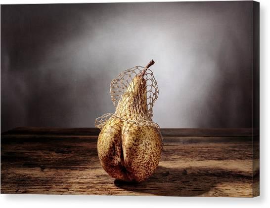 Weights Canvas Print - Pear by Nailia Schwarz