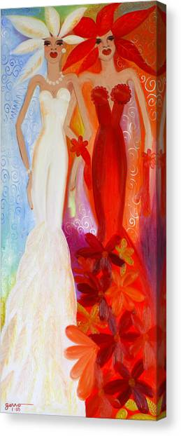 Pearl And June Canvas Print by Helen Gerro
