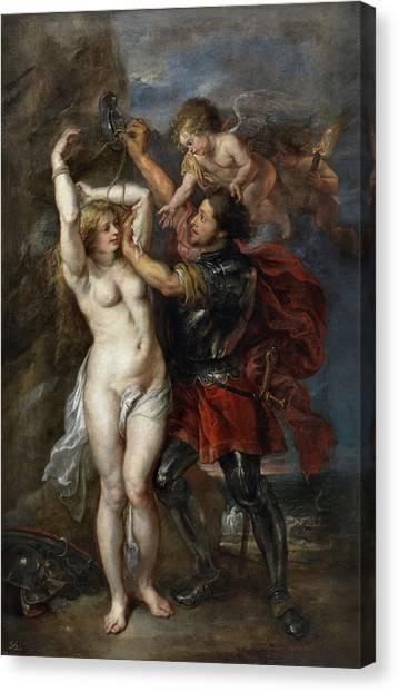Monster Buck Canvas Print - Perseus Freeing Andromeda by Peter Paul Rubens