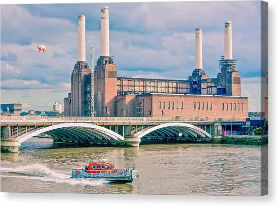 Pink Floyd Canvas Print - Pink Floyd's Pig At Battersea by Dawn OConnor