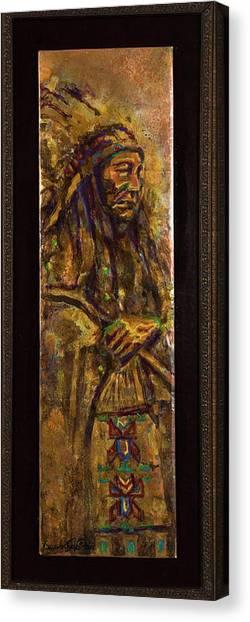 Plains Indian Chief Canvas Print