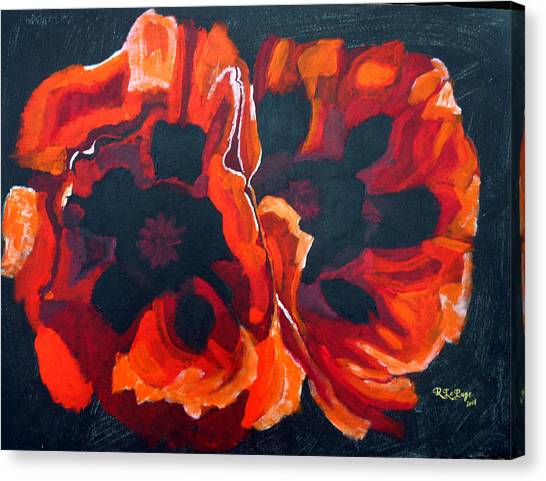 2 Poppies Canvas Print